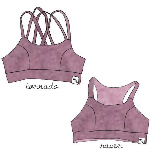 Mauve Orchid Heather YOGA - Sports Bra {3 styles}