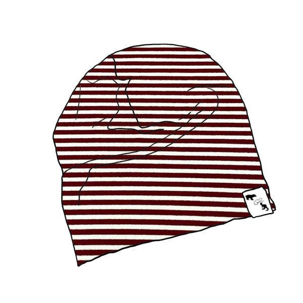 Currant Stripe - Slouch Beanie