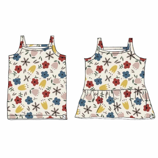 Meadow SLUB FRENCH TERRY - Kinley Tank/Peplum