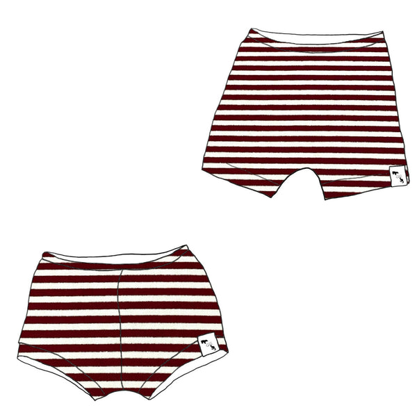 Currant Stripe - Shorties/Beach Shorts
