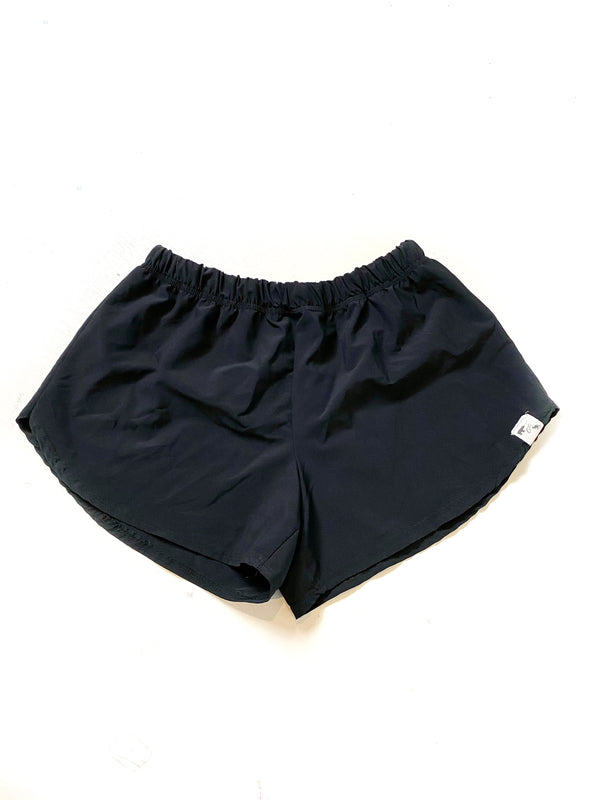 Black Stretch Woven - Women's Shorties