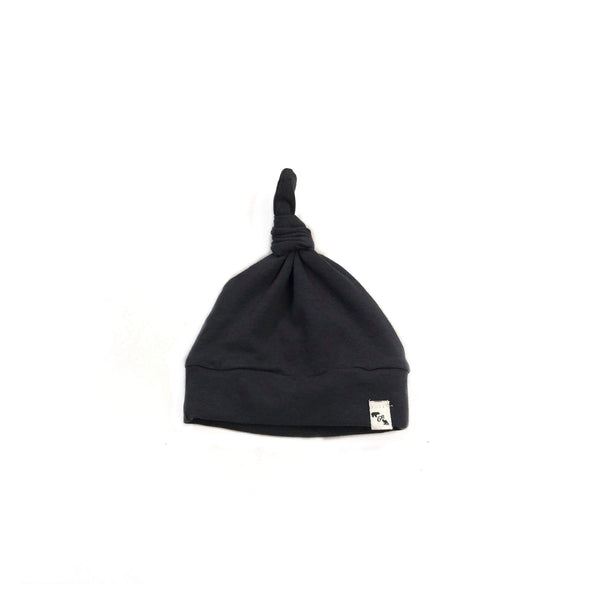 Black- knotted beanie