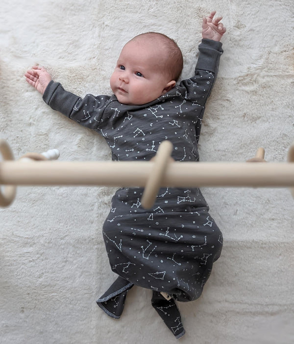 Graphite Constellations SLUB - Knotted Layette Gown