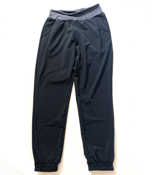 Black Stretch Woven - Lakeshore Bottoms