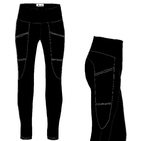 Black YOGA FLEX - Women's Arrowhead Leggings