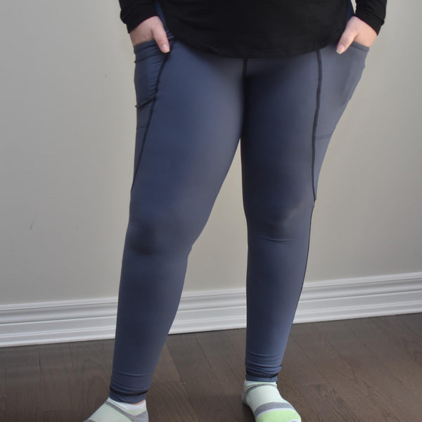 Haze Blue AIR ATHLETIC - Women's Arrowhead Leggings
