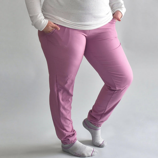 Mauve Stretch Woven - Lakeshore Bottoms