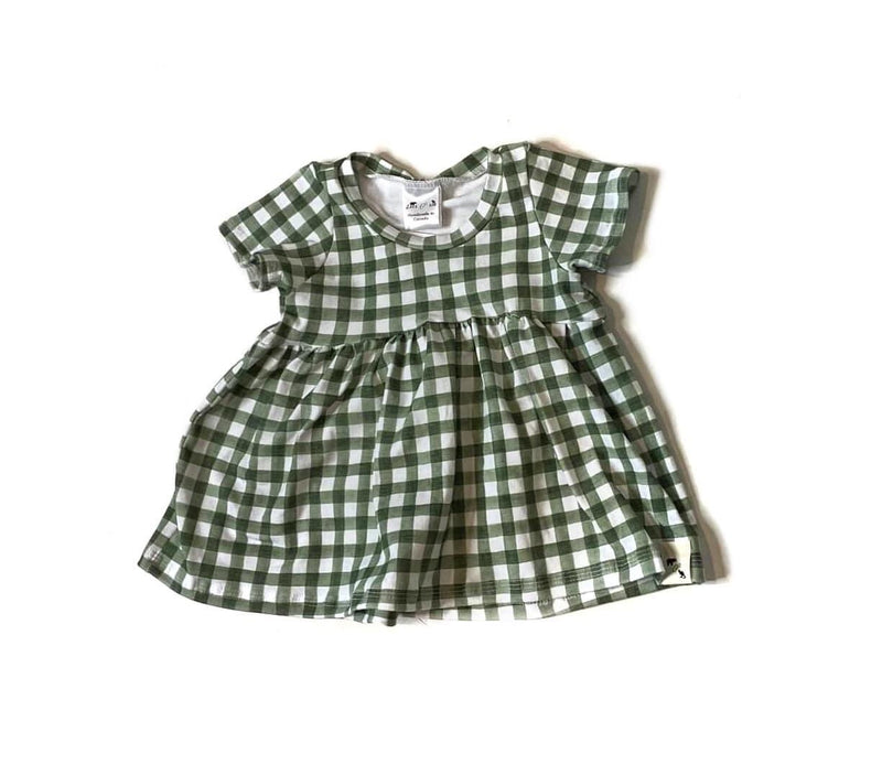 Summer Green Gingham - Bayside Peplum {3 sleeve lengths}