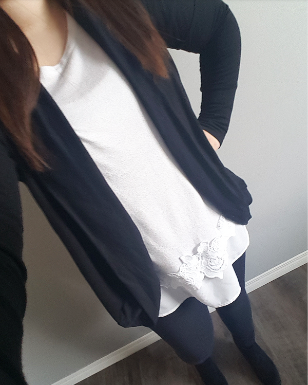 Basic Black- Women's Cardigan