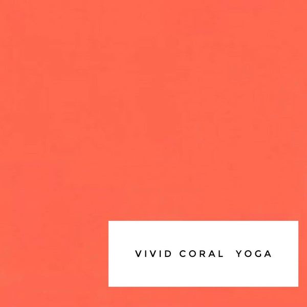 Vivid Coral Yoga - Lil Sports Crop
