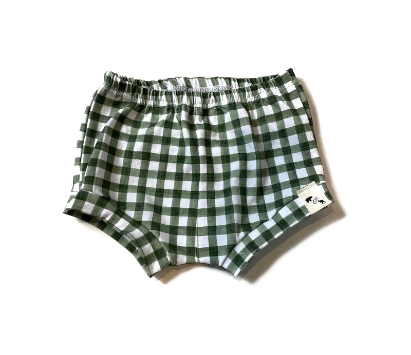 Summer Green Gingham - Shorties/Beach Shorts