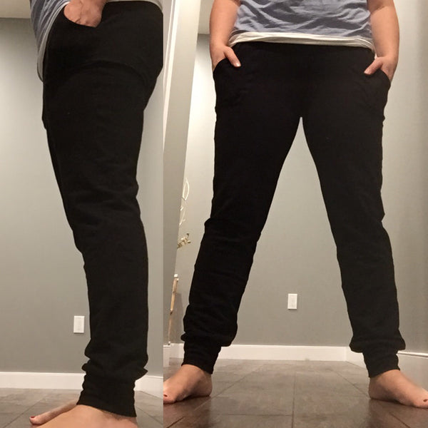 Basic Black-  Women's Skinny Sweats