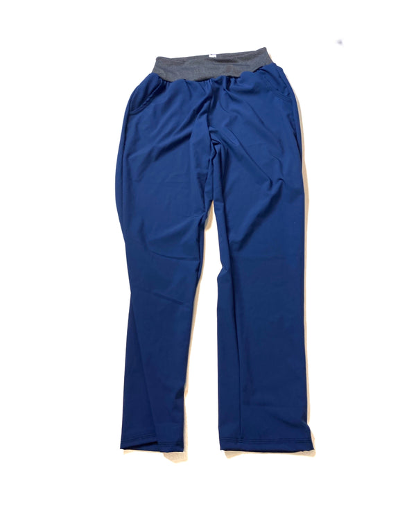 Navy Shadow Stretch Woven - Lakeshore Bottoms