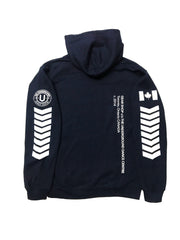 LIMITED EDITION - Underground Aviator Hoodie Navy (White Writing) - Underground Gear Shop