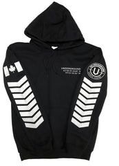 LIMITED EDITION - Underground Aviator Hoodie (White Writing) - Underground Gear Shop