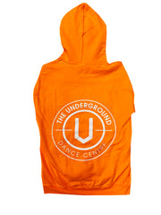 White on Safety Orange Underground Hoodie - Underground Gear Shop