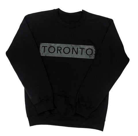Black on Black Underground Crewneck (Toronto Design) - Underground Gear Shop
