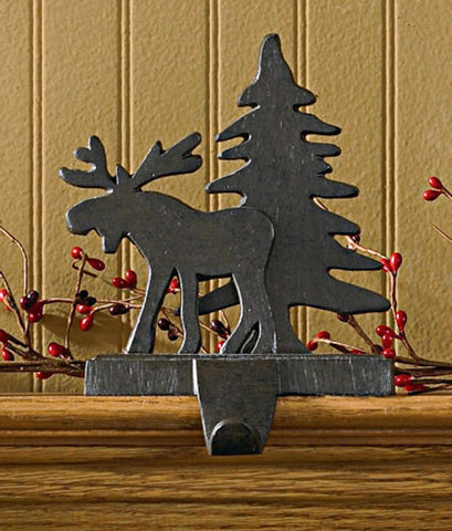 Moose and Tree Stocking Holder