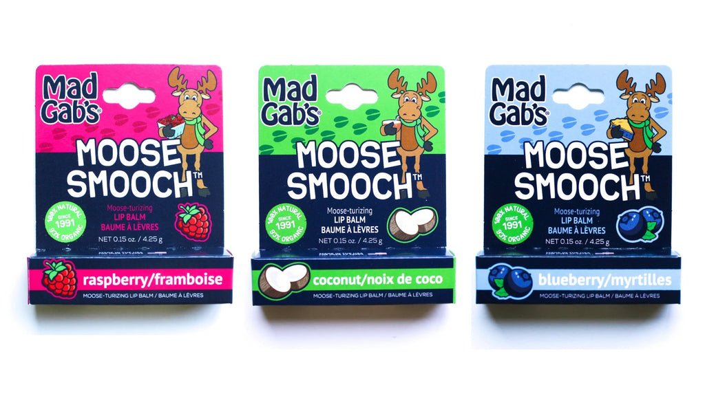 3 Pack of Moose Smooch Organic and Natural Lip Balm