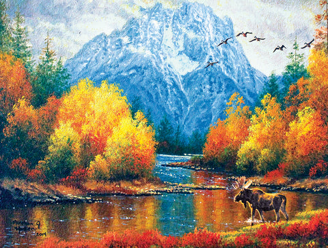 Mountain Moose 500 Piece Puzzle