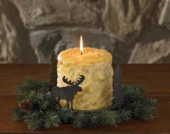 Moose Metal Candle Holder Pan
