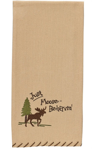 Just Moose Behavin' Moose Hand Towel