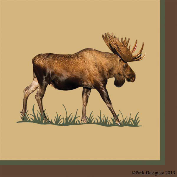 Moose Paper Beverage Cocktail Napkins