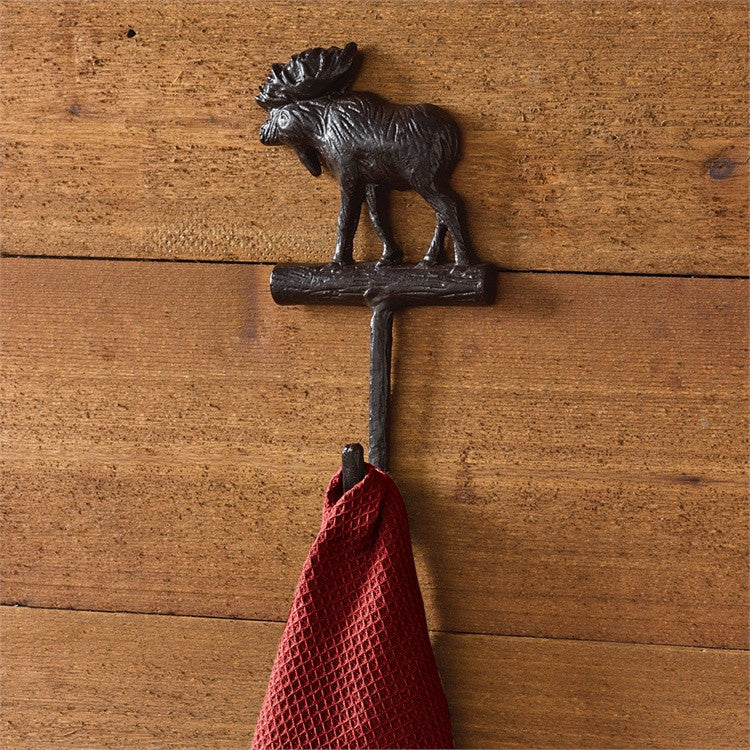 Cast Iron Moose Hook