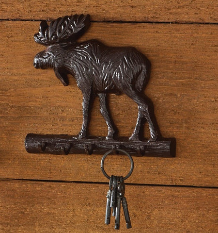 Moose Cast Iron Key Holder