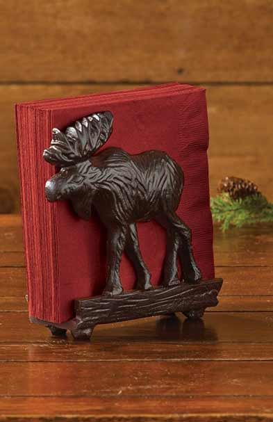 Cast Iron Moose Napkin Holder