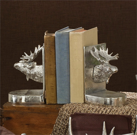 Moose Metal Bookends