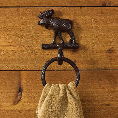 Moose Cast Iron Towel Ring