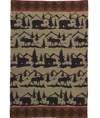 Great Outdoors Moose and Bear Dish Towel