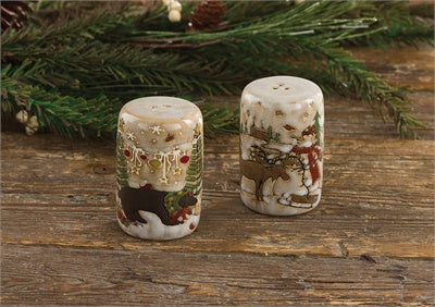 Wonderland Moose and Bear Salt and Pepper Shakers