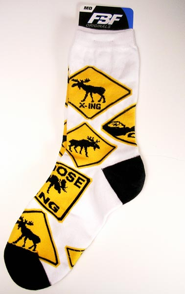 Moose Crossing Moose Socks