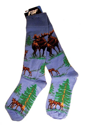 Moose Blue Socks