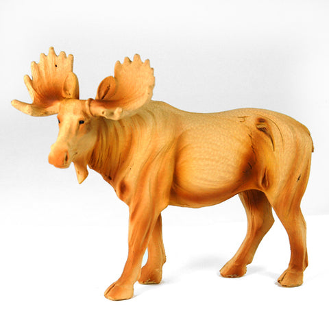 6 Inch Wood-Like Moose Figurine