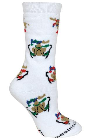 Skiing Moose Socks