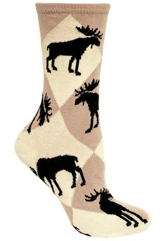 Diamond Tan Moose Socks