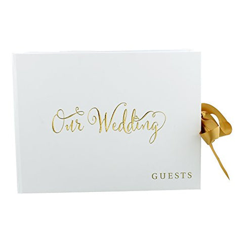 "'Always & Forever' Gold Foil ""Our Wedding"" Guest Book"