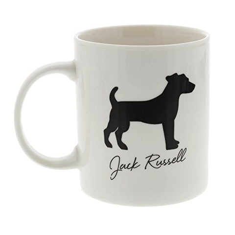 Best Of Breed Jack Russell Silhouette Typography Style Mug