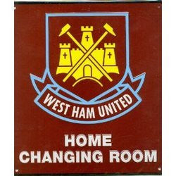 Matching Bedrooms Football Club West Ham Home Changing Room Metal Sign Plate.