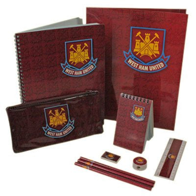 Official West Ham United F.C. 10 Piece Stationery Set
