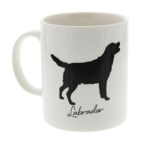 Best Of Breed Labrador Silhouette Typography Style Mug