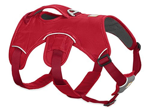 RUFFWEAR - Web Master Dog Harness with Lift Handle, Red Currant, XX-Small
