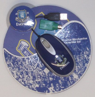 Official EVERTON F.C. Computer Mouse Set