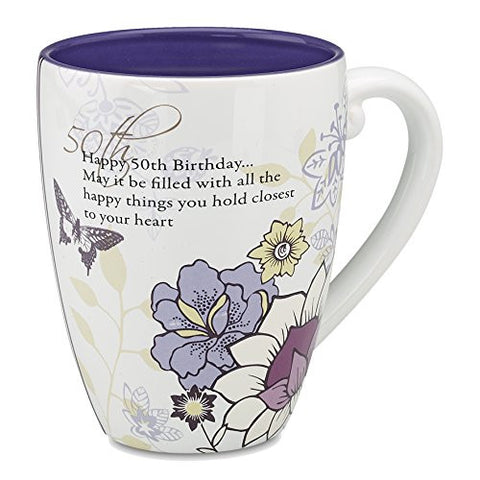 "'Mark My Words' Mug ""Happy 50th Birthday.. May it be Filled With All the Happy Things You Hold Closest to Your Heart"""