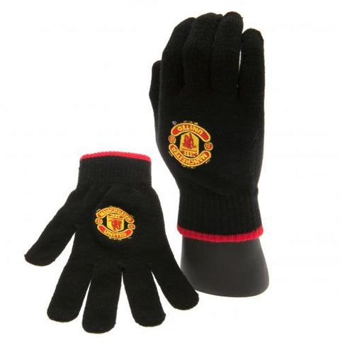 Manchester United F.C Knitted Gloves Adults Official Merchandise