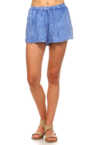 Women's Elastic Waist Loose Shorts