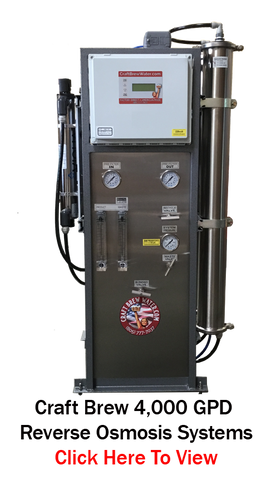 Craft Brew water 4000 Pro Reverse Osmosis System